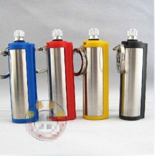 4PCS Survival Camping Hiking Emergency Fire Starter Flint Match Lighter KeyChain