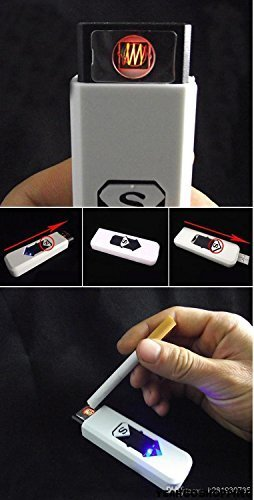 USB Electronic Rechargeable Flameless Cigar Cigarette Lighter - One Lighter