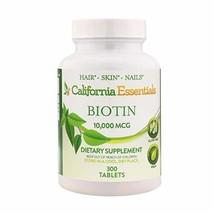 High Potency Biotin 10000mcg Tablets - Daily Healthy Hair Skin and Nails Vitamin