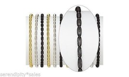 12 Steel Coil Stretch Bracelets 3 Colors: Gold Silver Black with Oval De... - ₨513.57 INR