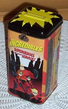 "Disney Pixar Incredibles Decorated 6"" Tin Bank with View-Thru Side Windows - $3.95"