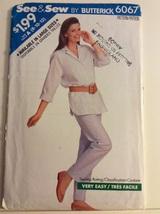 Butterick Pattern 6067 Misses Top, Pants Size 8-12 - $7.88