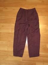 Women's Liz Claiborne Collection Dress Pants Linen & Rayon Burgundy Size... - $28.04