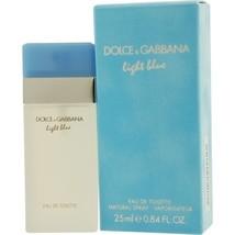 DOLCE & GABBANA  D & G LIGHT BLUE EDT PERFUME SPRAY .84 OZ**Perfect Trav... - $44.79