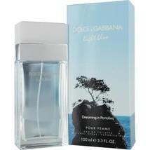 DOLCE & GABBANA LIGHT BLUE DREAMING IN PORTOFINO EDT PERFUME SPRAY 3.4 O... - $68.79