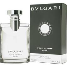 BVLGARI POUR HOMME SOIR EDT SPRAY 3.4 OZ for Men**Unique Scent/Casual Wear - $54.39