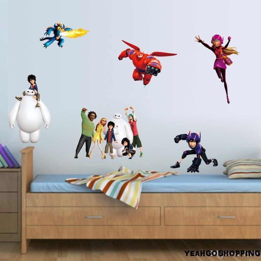 "One Big Hero 6 Wall Sticker Cartoon Character Removable - (36 "" X 12 "")"