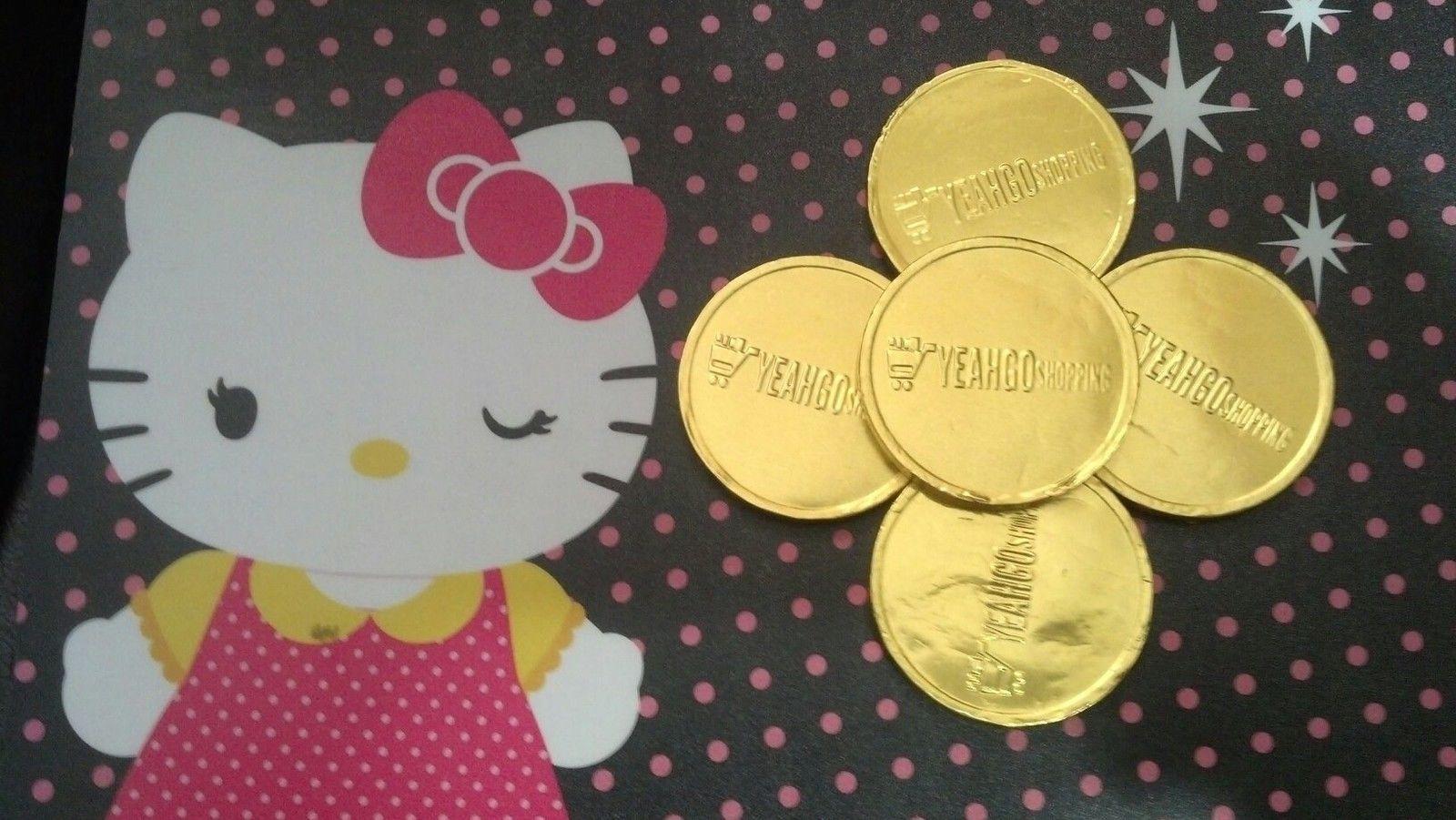 Chocolate Coin - .25 oz. (Gold : Dark Mint Chocolate) - 5 Coins