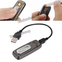 Rechargeable USB Battery Cigarette Cigar Flameless Lighter Windproof No Gas New