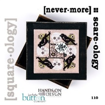Nevermore Square-ology halloween cross stitch chart Just Another Button ... - $5.00