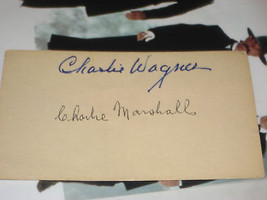 CHARLIE WAGNER & MARSHALL SIGNED POSTCARD +1 - $23.27