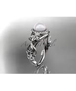 Ap300 white gold  platinum  pearl  diamond wedding band  diamond engagement ring  1 thumbtall