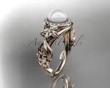 Ap300 rose gold  pearl  diamond wedding band  diamond engagement ring  1 thumb155 crop