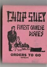 Vtg Strike on Matchbook  ~ King Yen Chinese Restaurant ~ Chop Suey. ~ Lo... - $9.89