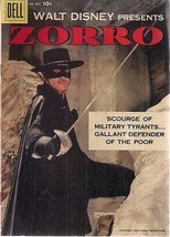Walt Disney presents ZORRO Dell Four-Color #882 (1957) Dell Comics VG+ - $34.64