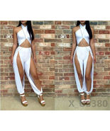 Women Sexy Cross Strap Bodycon Bandage Jumpsuit Party Front Details Romp... - $13.60