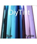 Reflective Blue Window Glass Tinting Film, 38X60 dark - $29.69