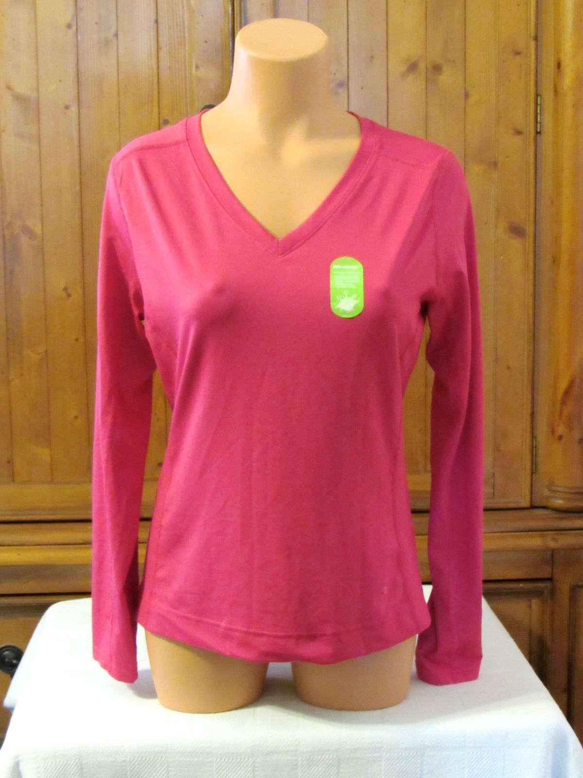 Athletic Works Women Long Sleeve Moisture Wicking Athletic Shirt S: L/G (12/14)