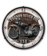 "Collectable Sign and Clock SM1103308 14"" Legends Motorcycle Lighted Clock - $129.95"