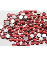 2mm SS7 Red Ruby - Garnet A28 Acrylic Rhinestones For Face Painting, Lea... - $6.44