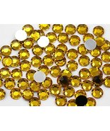 2mm SS7 Gold Topaz Lt. A02 Acrylic Rhinestones For Face Painting, Lead F... - $6.44