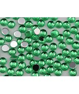 2mm SS7 Green Peridot A23 Acrylic Rhinestones For Face Painting, Lead Fr... - $6.44