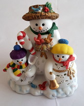PartyLite Retired Snowbell Holiday Christmas Snowman Tealight Candle Holder 7702 - $34.99