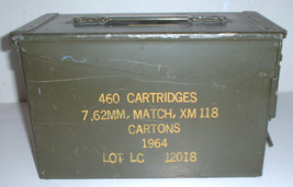 US Army 50 caliber ammunition box (empty) marke... - $30.00
