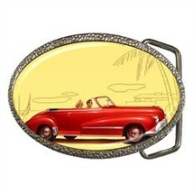CLASSIC 1948 OLDMOBILE BELT BUCKLE CHROME - NICE! - $12.99