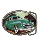 CLASSIC 1948 GREEN BUICK BELT BUCKLE CHROME - NICE! - $12.99