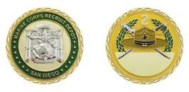 "MARINE CORPS 2ND RECRUIT DEPOT SAN DIEGO MCRD 1.75"" CHALLENGE COIN - $18.04"