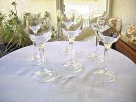 Set of 6 Cris D'Arques Durand Imagination Pattern Cordial Glasses - $24.74