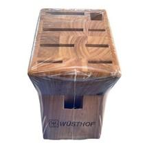 Wusthof Knife Block 9 Slot Solid Birch Modern New - $39.50