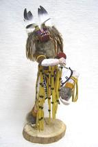 "Navajo Hopi 18.75"" BADGER DANCER Kachina Doll Katsina Sculpture by Sammie Walker - $309.00"