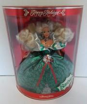 1995 Happy Holidays Barbie Special Edition Doll NIB Green Dress Silver H... - $19.79