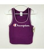 Champion Womens Venetian Everyday Crop Top Tank Medium M Purple White Sp... - $23.33