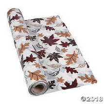 "40"" x 100 ft. Plastic Fall Leaves Tablecloth Roll - Halloween - $24.99"