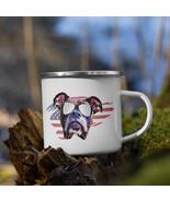 Patriotic Boxer Dog Enamel Camping Mug - $24.95