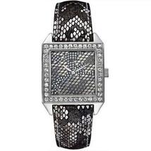 GUESS Women's U0050L1 Gunmetal Classic Glamour Python-Print Watch - £58.08 GBP