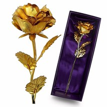 10 inch 24k Gold Rose Flower Gift Valentines Day Mothers Day Birthday We... - $14.48