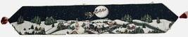 Santa Flying night sky Christmas Eve w Reindeer Tapestry Table Runner 12... - $26.99