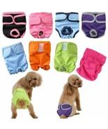 Pants XS-XXL Diaper Sanitary Washable Female Dog Shorts Dog Physiologica... - $14.59+