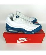 Nike Air Max 95 Essential Shoes size 9 White Platinum Dark Teal Abyss 74... - $110.00