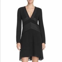 $450 NWT Tory Burch Varenne Tunic Metallic Trim Silk Black Dress sz 2; sz 8 - $149.99+