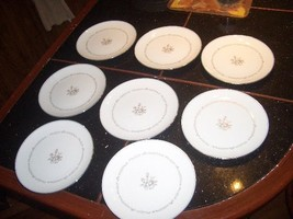 "Vintage 8 Noritake Mayfair 8 1/4"" Cake Plates All Good Condition - $14.99"