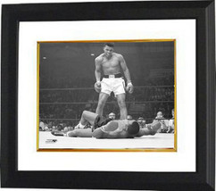 Muhammad Ali unsigned 11X14 Photo B&W Custom Framed over Sonny Liston (h... - $109.95