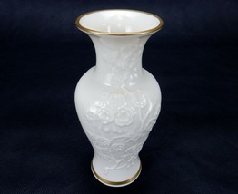 Lenox Ming Blossom Collection Ivory Bud Vase, Raised Floral Design 22K G... - $12.69
