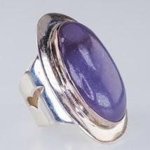 Sterling Silver Desert Rose Trading Co Lavender Jade Ring Size 6.75 - $98.98