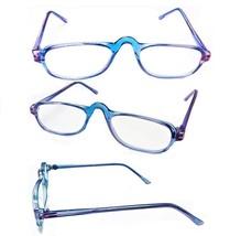 High Bridge Flexible Blue Eyewear Rectangle Reading Glasses Reader +1.00... - $5.95