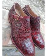 Men's Handmade Genuine Alligator Skin Shoes, Men Real Crocodile Skin Dre... - $1,188.00